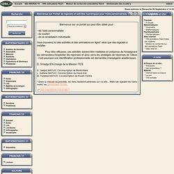 Portail de logiciels et activités numériques pour l'aide personnalisée, le soutien ou la remédiation.