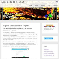 Mapme: créer des cartes simples personnalisées à insérer sur vos sites
