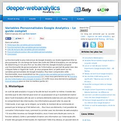 » Variables Personnalisées Google Analytics – Le guide complet | Deeper WebAnalytics