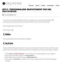 Bitly : personnaliser gratuitement vos URL raccourcies