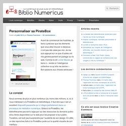 Personnaliser sa PirateBox - Biblio Numericus