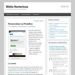 Personnaliser sa PirateBox | Biblio Numericus