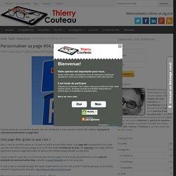 Personnaliser sa page 404, pourquoi et comment ? - Thierry Couteau