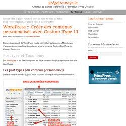Créer et gérer les contenus personnalisés dans WordPress avec Custom Post Type UI