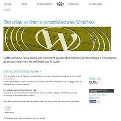 Bien utiliser les champs personnalisés avec WordPress