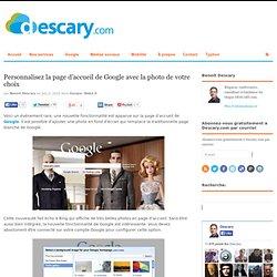 Personnalisez la page d'accueil de Google avec la photo de votre