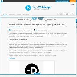 Personnalisez les uploaders de vos prochains projets grâce au HTML5