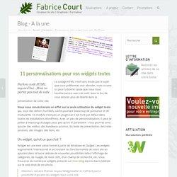 Personnalisez votre widget texte avec WordPress