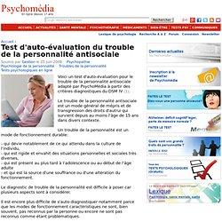 Test d'auto-évaluation du trouble de la personnalité antisociale