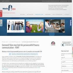 Test de personnalité process communication - pcm - process com, type de personnalité process com - Motivrh-formation-PCM