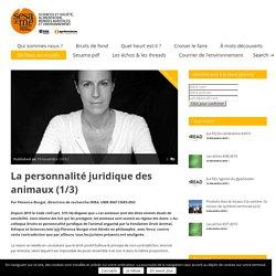 INRA 19/11/19 REVUE SESAME - La personnalité juridique des animaux
