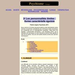 Personnalité narcissique égoïste