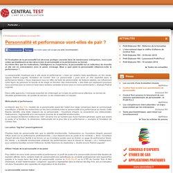 Personnalité et performance au travail - article RH- Central Test