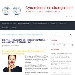 Les styles sociaux : gérer les équipes en tenant compte des personnalités (2) : le promoteur – Dynamiques de changement