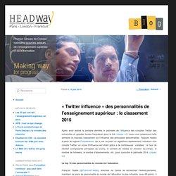 « Twitter influence » des personnalités de l'enseignement supérieur : le classement 2015