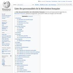 Liste des personnalités de la Révolution française