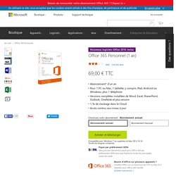 Office 365 Personnel, applications Office, services en nuage - Microsoft Store France Boutique en ligne