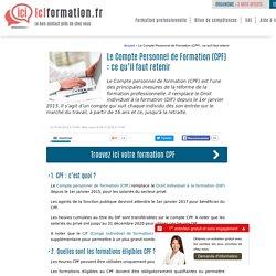 Le Compte Personnel de Formation (CPF) : définition