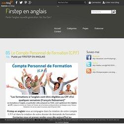 Le Compte Personnel de Formation (C.P.F) - Firstep en anglais