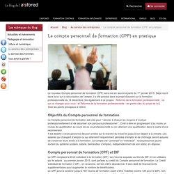 Le compte personnel de formation (CPF) en pratique