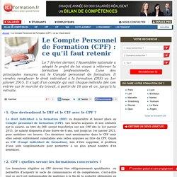 Le Compte Personnel de Formation (CPF) : ce qu'il faut retenir