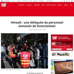 Hérault : une déléguée du personnel menacée de licenciement