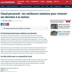 Cloud personnel : les meilleures solutions pour ramener ses données à la maison
