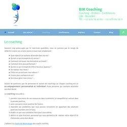 Le coaching - BJK Coaching: Coaching personnel, professionnel et coaching d'équipes