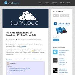 Un cloud personnel sur le Raspberry-PI : OwnCloud