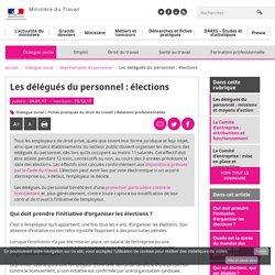 Les délégués du personnel : élections - Représentants du personnel