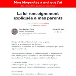 Mon blog-notes à moi que j'ai - Blog personnel d'un sysadmin, tendance hacker