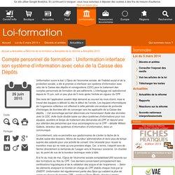 Compte personnel de formation : Uniformation interface son système