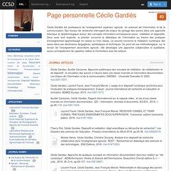 CV HAL : Page personnelle Cécile Gardiès