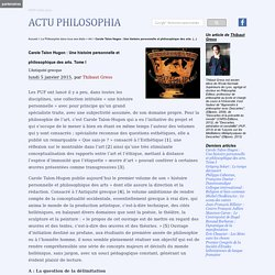 Carole Talon Hugon : Une histoire personnelle et philosophique des arts. Tome I
