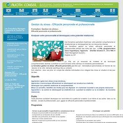 Gestion du stress - Efficacité personnelle et professionnelle - Alioth Conseil