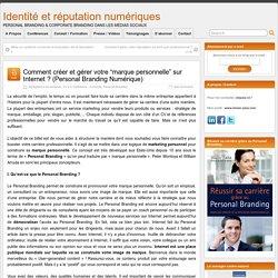 Gestion de la réputation sur Internet - Personal Branding