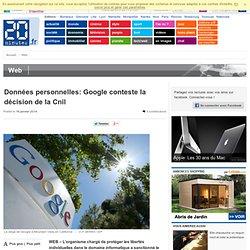 Données personnelles: Google conteste la décision de la Cnil