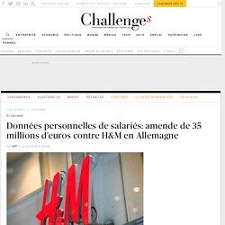 Données personnelles de salariés: amende de 35 millions d'euros contre H&M en Allemagne