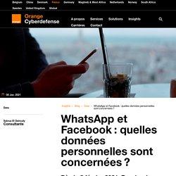WhatsApp et Facebook: quelles données personnelles sont concernées?