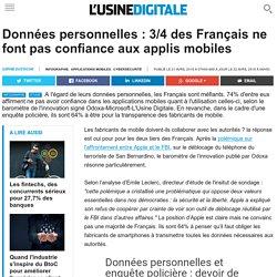 Données personnelles : 3/4 des Français ne font pas confiance aux applis mobiles