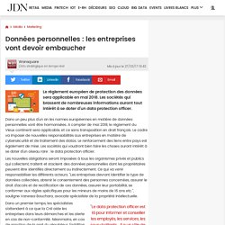 Données personnelles: les entreprises vont devoir embaucher