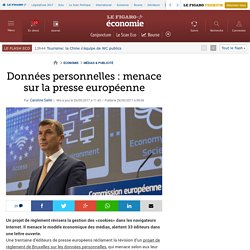 Données personnelles: menace sur la presse européenne