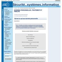 Données personnelles, traitement et finalité - Sécurité des systèmes d'information de l'académie de Strasbourg