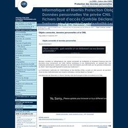 Objets connectés, données personnelles et la CNIL - Fil d'actualité du Service Informatique et libertés du CNRS