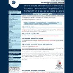 Les 7 principes clés de la protection des données personnelles - Fil d'actualité du Service Informatique et libertés du CNRS
