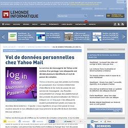 Vol de données personnelles chez Yahoo Mail