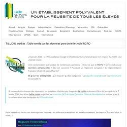 TILLION médias : Table ronde sur les données personnelles et le RGPD – Lycée Germaine Tillion – Montbéliard