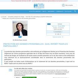 Protection des données personnelles : quel intérêt pour les particuliers ? Par Michèle Bauer, Avocate.