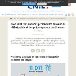 Bilan 2014: les données personnelles au cœur du débat public et des préoccupations des Français