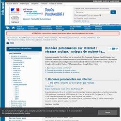 Données personnelles sur Internet : réseaux sociaux, moteurs de recherche... — Enseigner avec le numérique